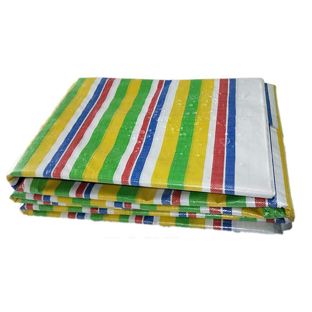 Zeltplanen Schuppen-Tuch-Farbstreifen-Plastikplane-Wasserdichter Sunscreen Plane Verdicken TriFarbe-Stoff-im Freien Isolierendem Tuch