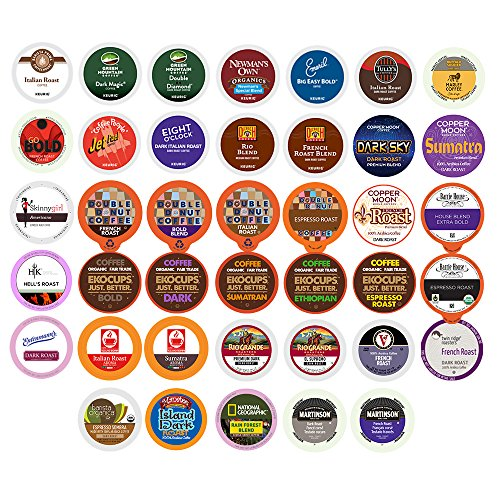 kcup dark roast variety pack - 6