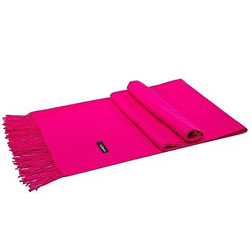 LeKuni Bufanda Mujer de cachemira pashmina, bufanda de punto con flecos cachemira larga suave capa d...
