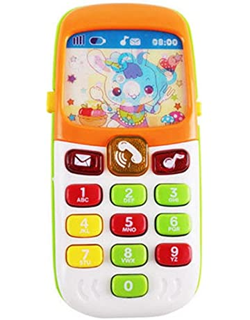 f9d2b0e64e2 Gereton - Teléfono de juguete para niños y bebés, regalo educativo con  iluminación de voz