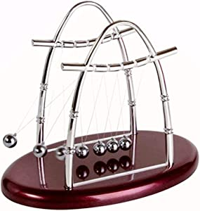 LtytyJ Newton's Cradle - Demonstrate Newton's Laws with Swinging Balls Physics Science Office Desk Decoration (U-Shape)