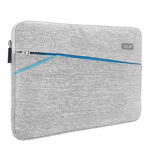 Lacdo 13 Inch Waterproof Laptop Sleeve Case Compatible MacBook Pro 13.3-inch Retina 2012-2015 / Old MacBook Air 13 / iPad Pro/Surface Book/ASUS ZenBook HP Chromebook Bag Carrying Case Gray
