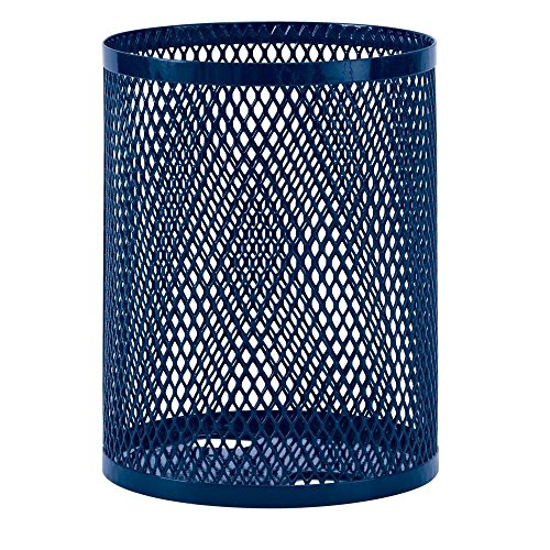 - Ultra Play 32 gal. Diamond Blue Commercial Park Portable Trash Receptacle