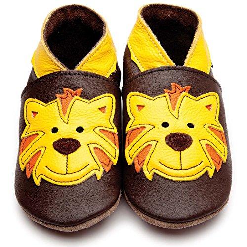Inch Blue Jungen Schuhe für den Kinderwagen aus luxuriösem Leder - Weiche Sohle - Tommy Tiger Braun