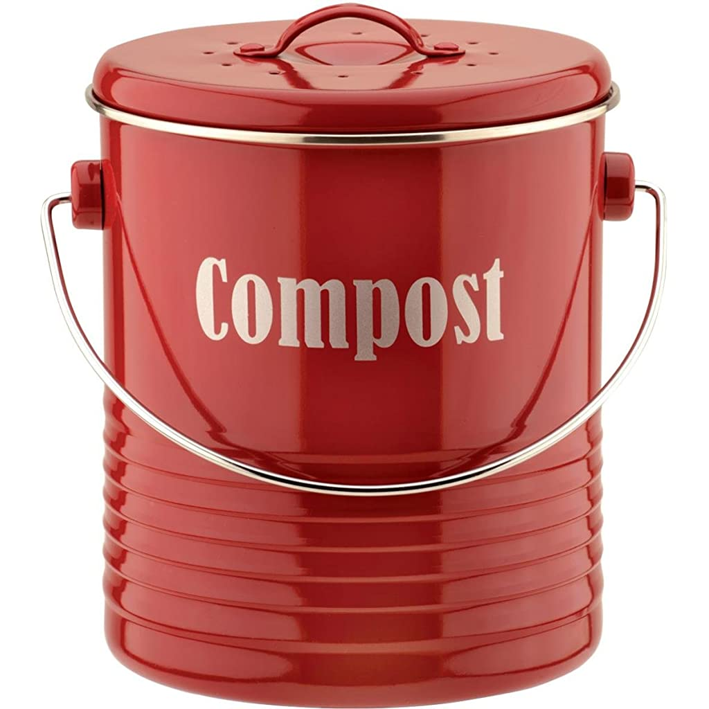 Typhoon Compost Caddy with Carbon Filter - Red