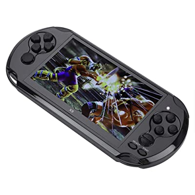 Pomya Handheld Game Console, Mini Portable 5.1-inch Color Screen Handheld Video Game Player Game Console with Camera and DV Shooting Pictures Functions for Children (Black): Electronics