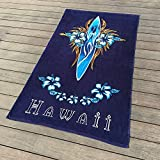 Mangeoo Water Bath Towel, European And American Bath Towel, Recreational Sports, Soft Surfacing, Beach Towel 180*105,European Court Flower,180*105Cm