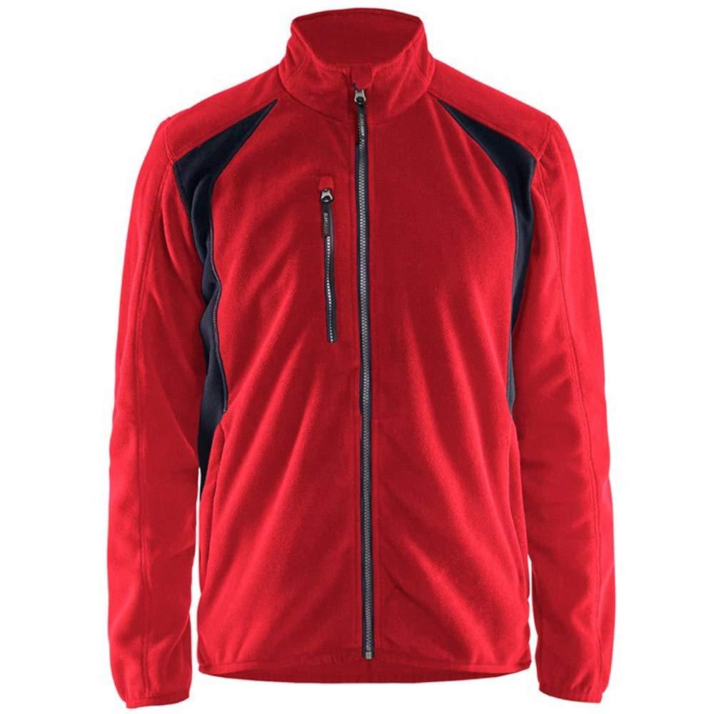 Blaklader Workwear Fleece Jacket Red//Black L