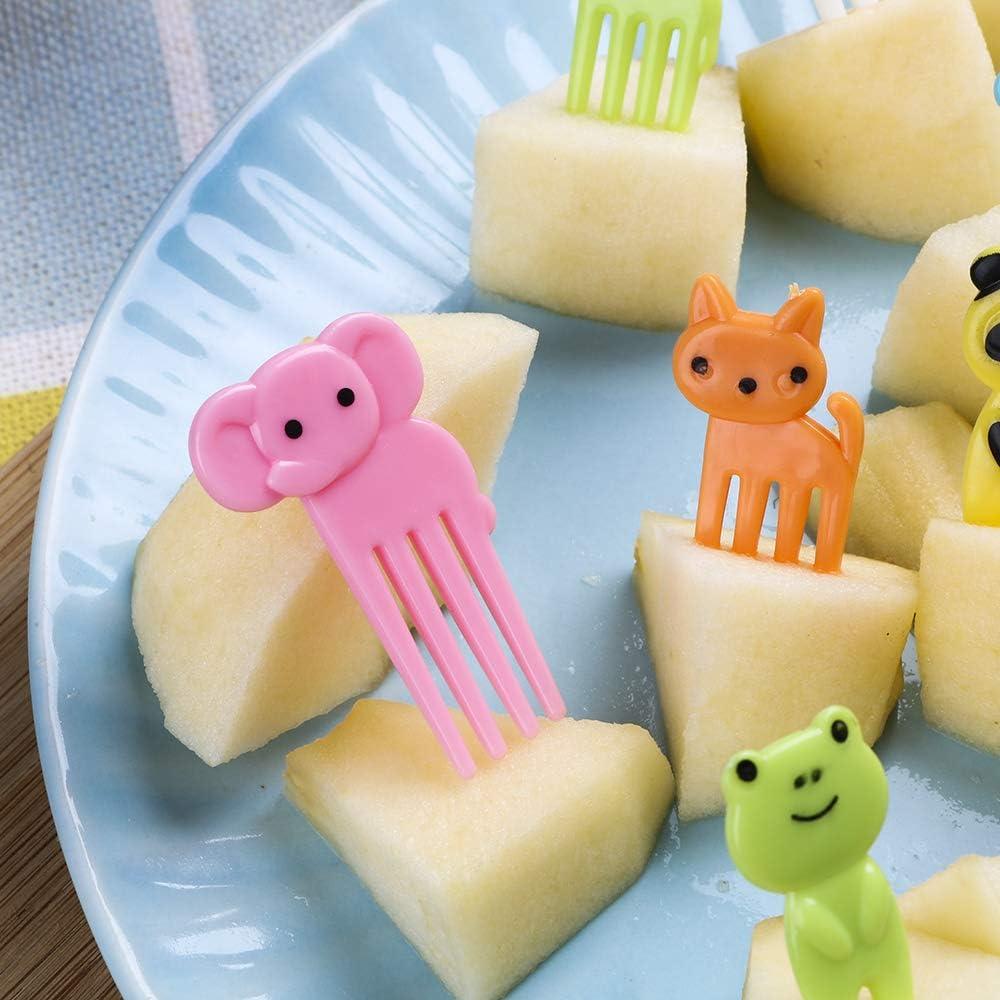 Elephant NNMNBV Lot de 10 fourchettes /à Dessert Mignonnes pour Repas Bento Lunches Cure-Dents pour Enfant Animal Ferme Fruit Fourchette D/écoration de f/ête