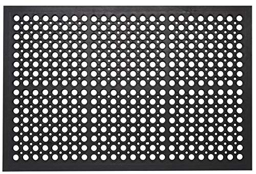 Envelor Home and Garden Anti Fatigue Commercial Rubber Door Mat Durable Restaurant Kitchen Non-Slip Bar Drainage Utility Floor Mat Indoor Outdoor Wet Area Doormat 36 x 60 Inches from Envelor Home and Garden