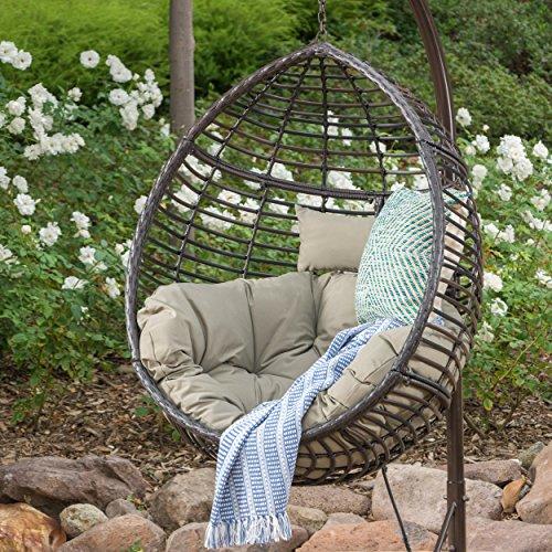 GDF Studio Leasa Outdoor Multibrown Wicker Hanging Basket ...