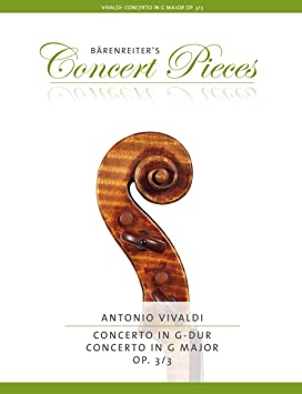 Antonio Vivaldi: Concerto For Violin In G Op.3/3. Partituras para