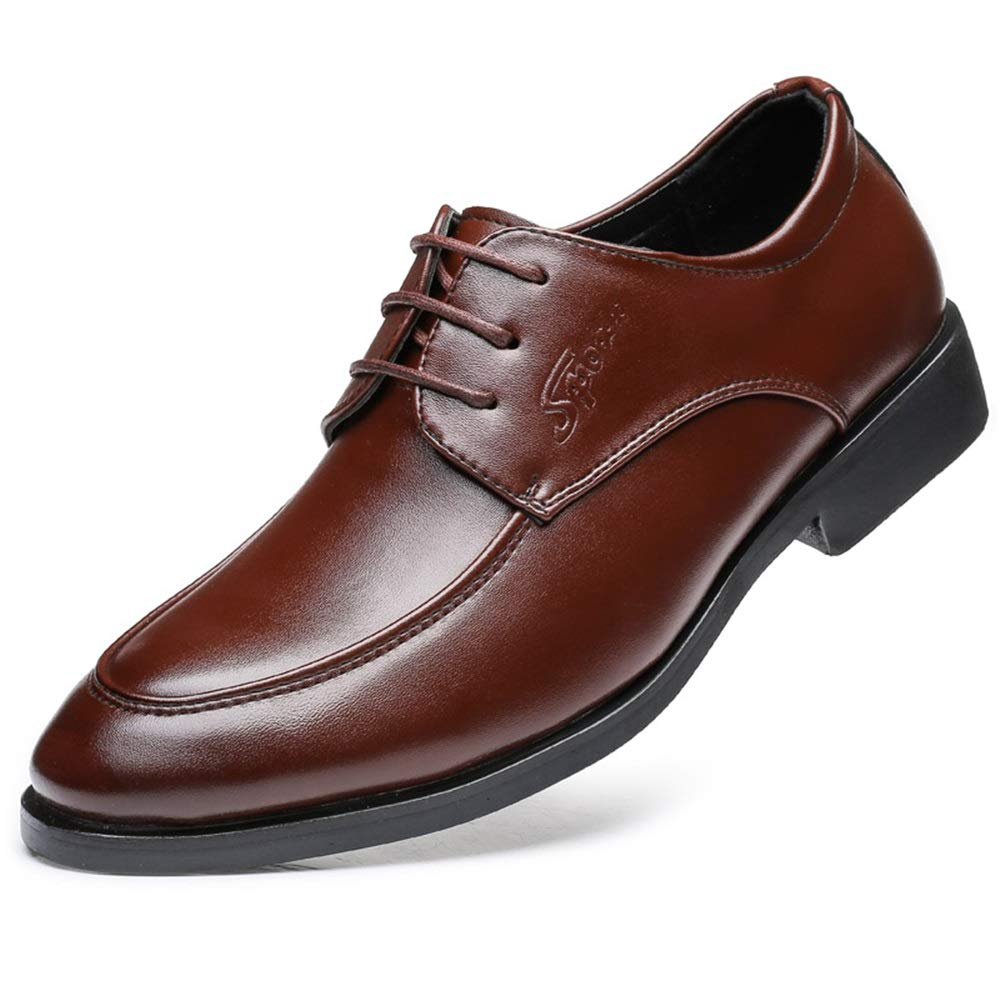 IWGR Herren Business Oxford weiches OX-Leder zeigte Spitze einfarbig einfarbig einfarbig Formale Schuhe Mode Slipper  82f4db