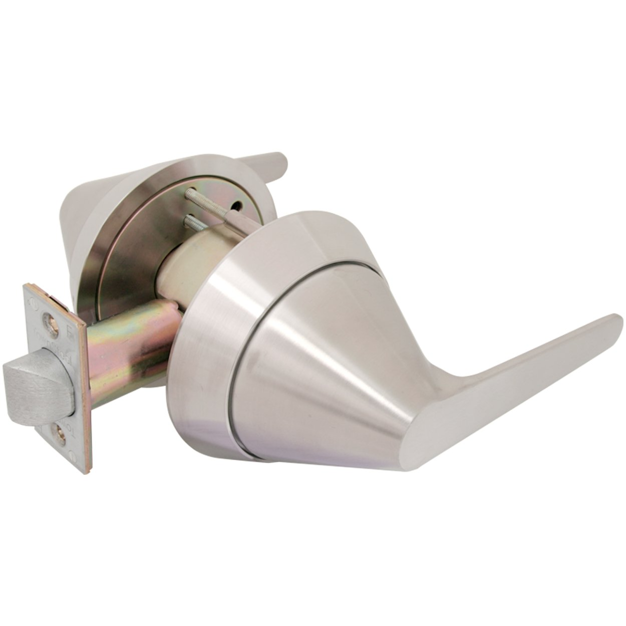 TownSteel TRX-L-75 Cylindrical Lock with Ligature Resistant Lever Trim, Grade 1, Passage Function, Non-Handed, Satin Stainless Steel