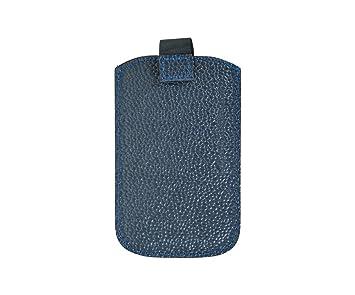 Handmacher Smartphone-Etui aus blauem Scotchgrain Leder Maße  80 x 125 mm 4225597d5d