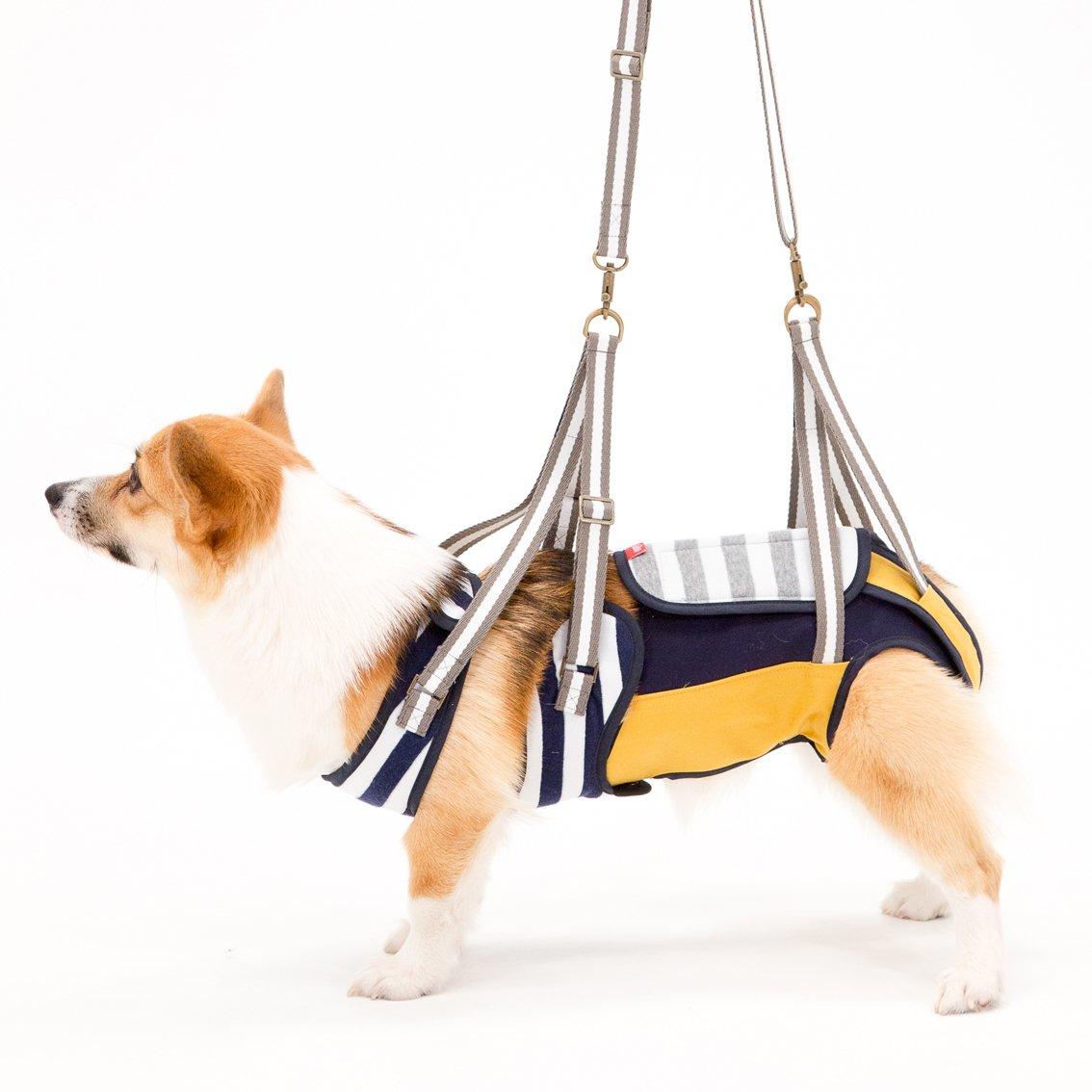 With(ウィズ) 歩行補助ハーネス LaLaWalk 中型犬コーギー用 ボーダーマスタード CMサイズ B01BBCT5BA  CLサイズ CLサイズ