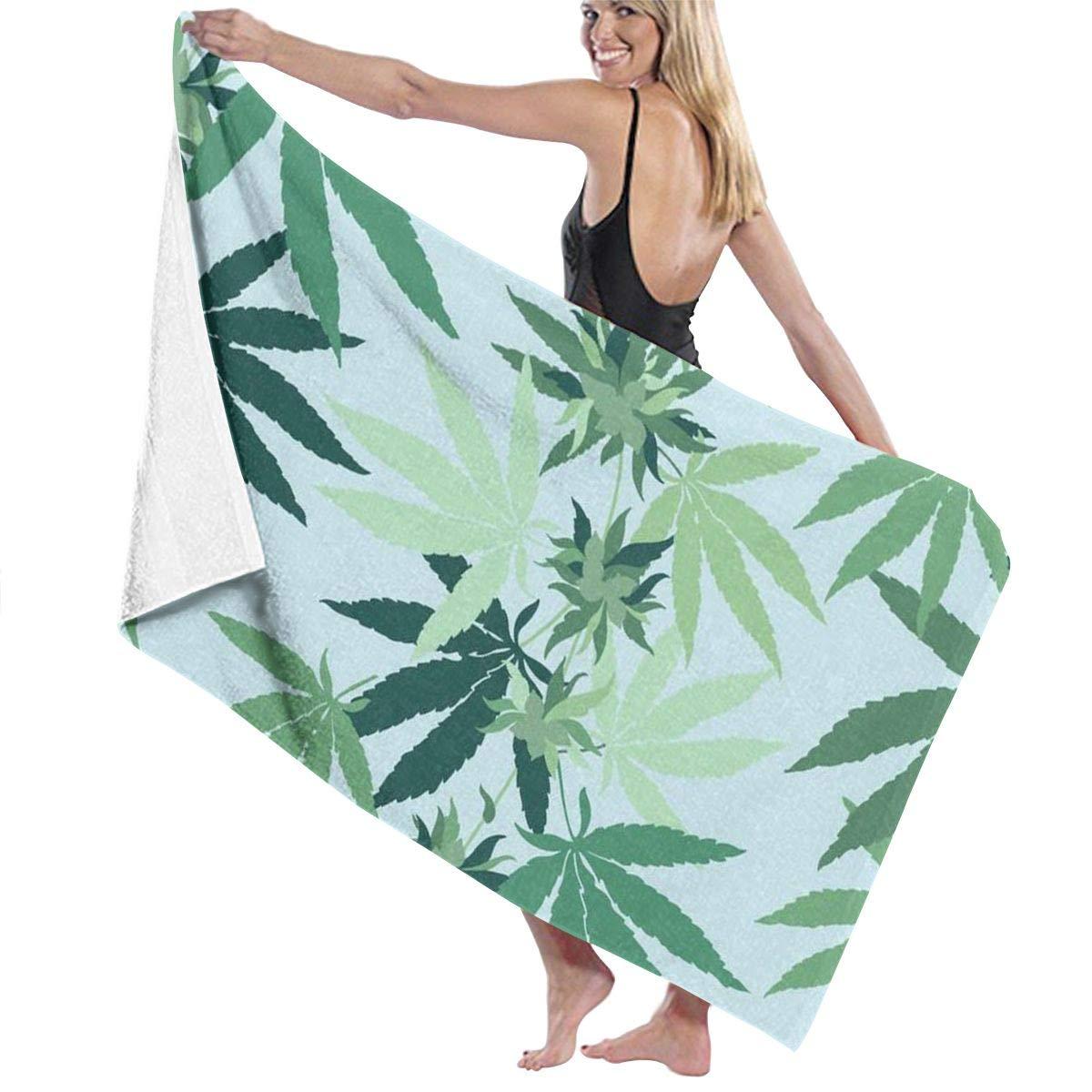 PTYHR マイクロファイバー ビーチタオル シャワー/スパ/水泳用 砂なし 大型バスタオル (40x70インチ) 旅行タオル 軽量 スポーツ/キャンプ/水泳/ジム/シャワー用 40 X 70 inches ブルー KSHQskja44_AJma1a4q867 B07PKM97CJ Cannabis Marijuana Weed Leaf 40 X 70 inches