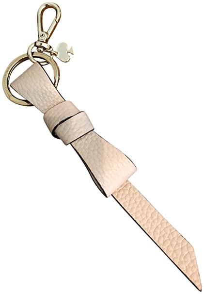 Amazon com: Kate Spade New York Pebbled Leather Bow Keychain
