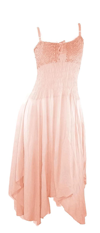 #1219 Damen Sommerkleid Maxi Maxikleid Kleid lang Spitze ...