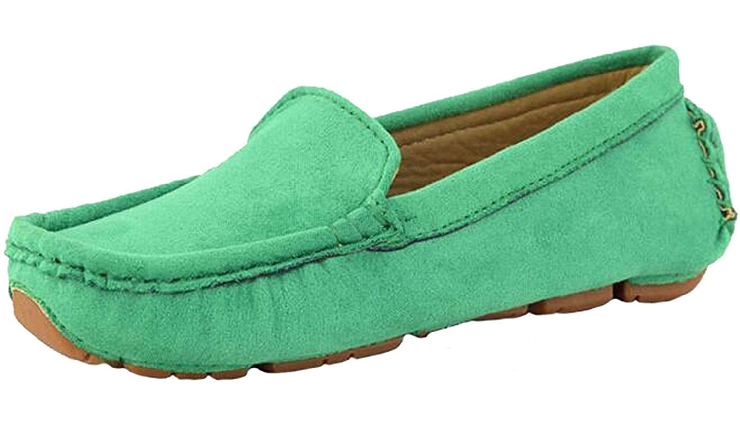 MOREMOO Girls Boys Suede Slip-on Loafers Casual Shoes Toddler//Little Kid//Big Kid