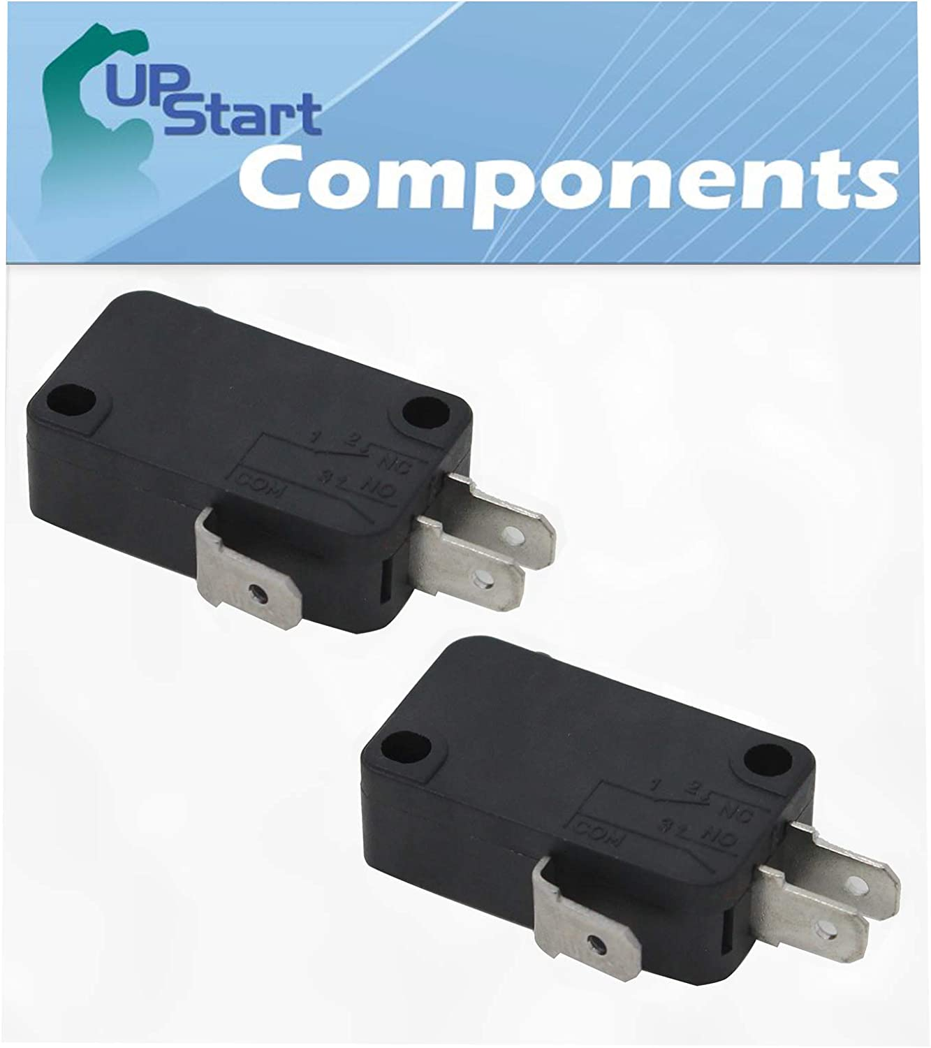 2-Pack W10269458 Microwave Door Switch Replacement for Maytag MMV5208WB1 - Compatible with W10269458 Door Switch