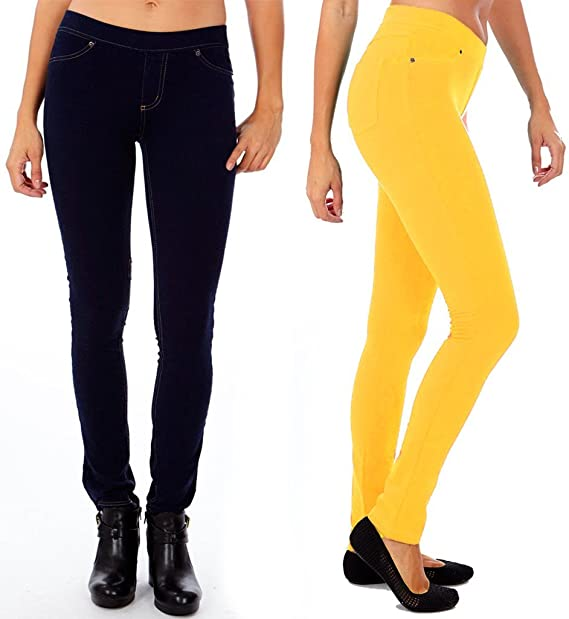 064b8f0b48ac4 Juniors's s Pull-On Skinny Fit Jeggings French Terry Cotton Spandex (Sold  as Pack of 2) at Amazon Women's Clothing store: