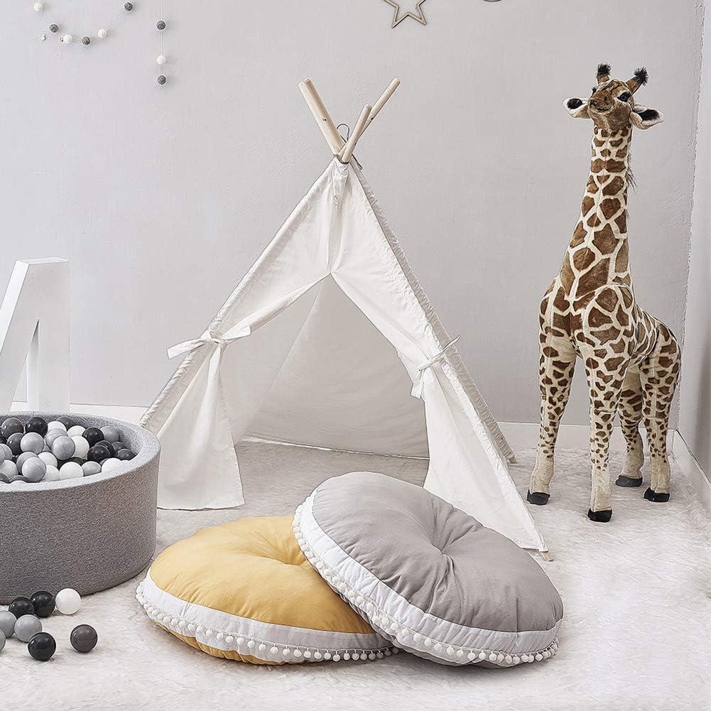 Amazon.com: Cojín redondo para piso grande para niños ...