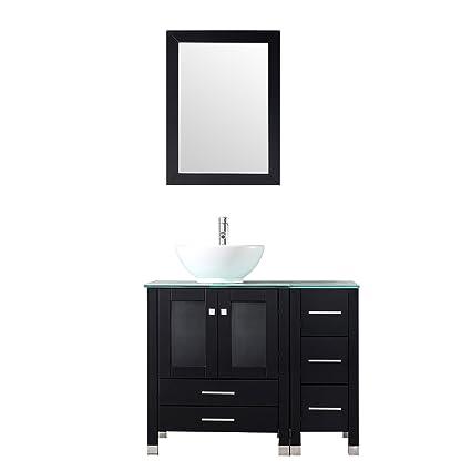 Sliverylake 36 Inch Bathroom Vanity Cabinet Vanities With Vessel