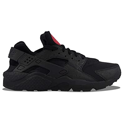 NIKE Air Huarache Run F Black/Black-University Red (8 D(M