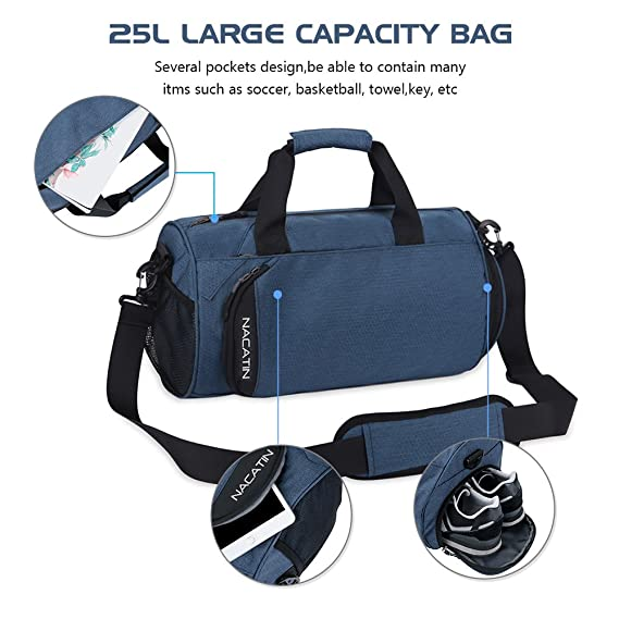 NACATIN Fashionable Sports Bag with Shoe Compartment e23e4ffd95327