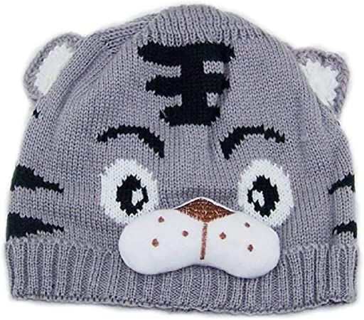 BABY BOY GIRL KNITTED ANIMAL FACE HAT /& MITTENS SET-0//24 MONTHS-VERY CUTE-NEW