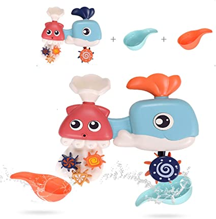 Suction Pouring Sprinkle New. Bath Toy Whale Kids Fun with Water