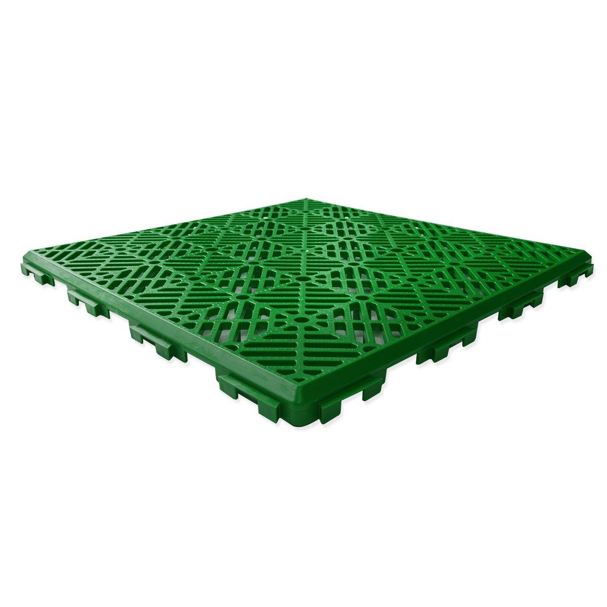 5 Pack - Green Garden Non Slip Interlocking Path Tiles KCT Home