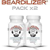 Beardilizer® - 1er Accélérateur de Pousse de Barbe (Pack x2) - 180 Capsules