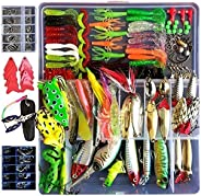 276 Pcs crankbaits deep dor walleye and pike Bionic Bass Trout Salmon Pike Fishing Lure RattleFor Trout Bass S
