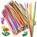 Caydo 700 Pieces Assorted Colors Chenille Stems Pipe Cleaners 6 mm x 12 inch for DIY Art Supplies