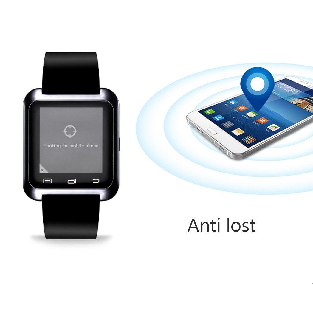 E821 U80 Smart Watch Pulsera Smartphone Reloj Inteligente por Bluetooth 4.0,Anti-perdida Sportswatch Podómetro Ajuste para Teléfonos Android IOS ...