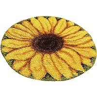 Prettyia Latch Hook Rug Kit DIY Carpet Craft Decoration Rug Making Kit Sunflower