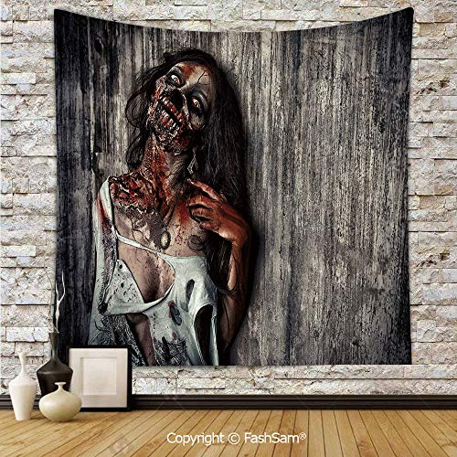 Tapestry Wall Blanket Wall Decor Angry Dead Woman Sacrifice Fantasy Mystic Night Halloween Image Decorative Home Decorations for Bedroom(W59xL78)]()