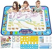 Jasonwell Aqua Magic Doodle Mat 40 X 32 Inches Extra Large Water Drawing Doodling Mat Coloring Mat Educational