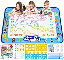 Jasonwell Aqua Magic Doodle Mat 40 X 32 Inches Extra Large Water Drawing Doodling Mat Coloring Mat Educational Toys Gifts...