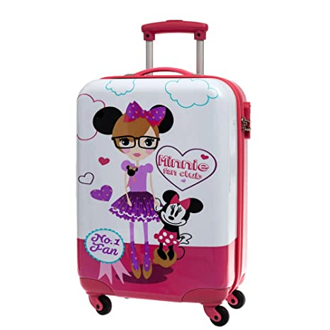 Disney Minnie Fan Maleta de Cabina Rígida, Color Blanco, 35 ...