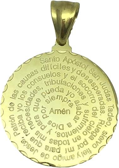 San Judas Tadeo Medalla de oración en español 28 mm