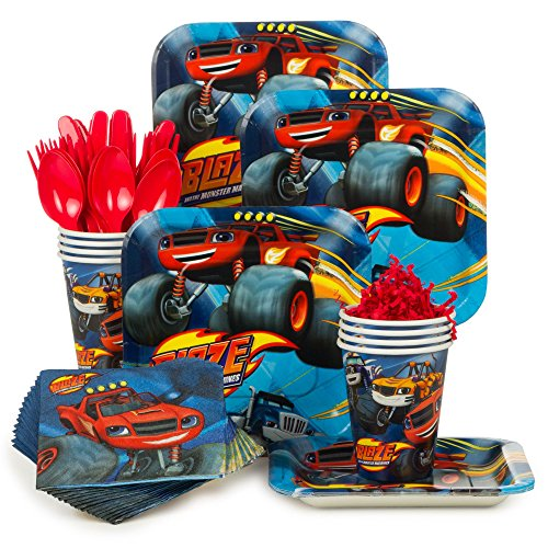 Costume Supercenter BBKIT1057 Blaze and the Monster Machines Standard Tableware -