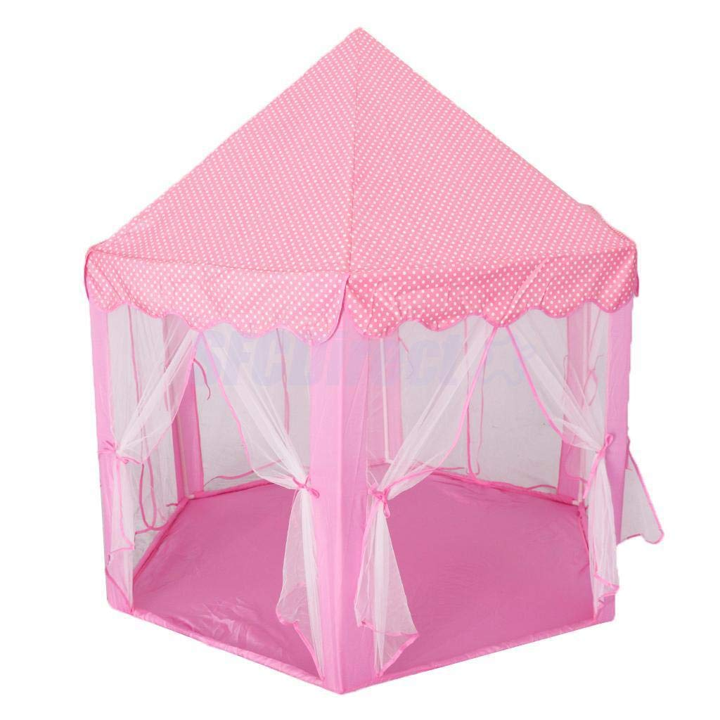 outlet store 4bea9 1862a Intency Pink Princess Castle Kids Play Tent Large Children Playhouse for  Girls Indoor Outdoor Use