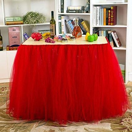 Falda de mesa Tul Tutu Mantel Malla de tul, vestido de poncho ...