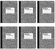 Cadernos de composição Oxford, papel pautado largo, 24 x 18 cm, 100 folhas, preto, pacote com 6 (63764)