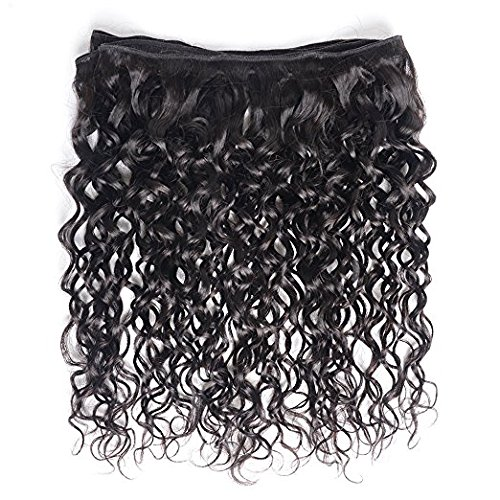 Brazilian Virgin Hair 4 Bundles with Closure Water Wave Hair Bundles with 4x4 Free Part Closure Unprocessed Virgin Human Hair (20 22 24 26 with 18, Natural Color) by Younsolo (Image #6)
