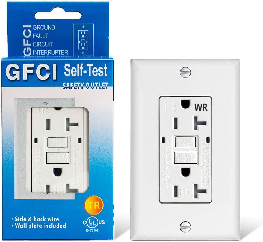 GFCI Outlet Receptacle-20 amp WR Tamper Resistant