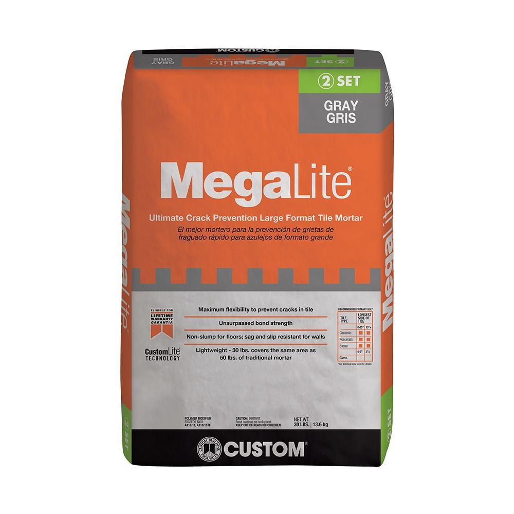 Custom Building Products MegaLite Gray 30 lb. Crack Prevention Mortar